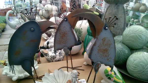 Ptaki - ozdoby z metalu